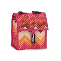 Lunch Bag- Chevron Pink